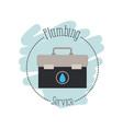 sticker scene of toolbox plumbing service vector image vector image