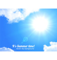 Sun and sky realistic background vector image vector image