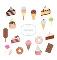 Sweets set isolated on white vector image vector image