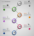 Time line info graphic abstract with colorful vector image vector image