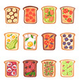 toast healthy toasted food with bread vector image