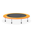trampoline icon on white background vector image