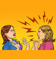 two angry women scream vector image vector image