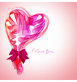 Valentine card with abstract heart vector image vector image