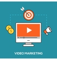 Video marketing concept vector image vector image