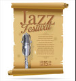 vintage jazz festival banner collection vector image vector image