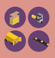 warehouse logistics isometric icon set vector image vector image