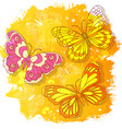 watercolor drawing abstract colored vector image