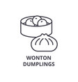 wonton dumplings line icon outline sign linear vector image vector image
