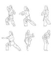 young karate girl vector image vector image