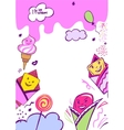 image with very tasty ice cream vector image