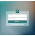Member login form interface For web page site vector image