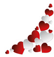 Background hearts vector image