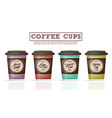 Collection coffee badges and logo design on coffee vector image