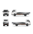white realistic delivery cargo truck isolated on vector image