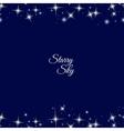 Starry frame on dark blue background vector image