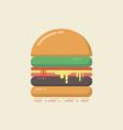 429flat hamburgerVS vector image vector image