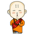 a buddhist monk or color vector image vector image