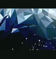 abstract dark blue polygonal background vector image vector image