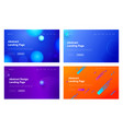 abstract geometric line shape landing page vector image