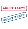 Adult Party Rubber Stamps vector image vector image