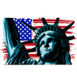 american liberty statue icon vector image vector image
