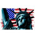 american liberty statue icon vector image