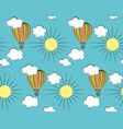 background with balloon and clouds vector image