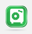bank vault Color square icon vector image
