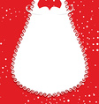 Big white beard Santa Claus on red background vector image
