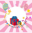 border template with balloons and presents vector image vector image