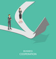 business cooperation flat isometric concept vector image