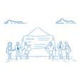 businesspeople open envelope paper document vector image vector image