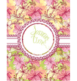 Card with hand drawn flowers - tiger lilly Floral vector image vector image