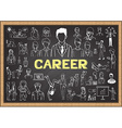 Career on chalkboard vector image vector image