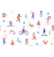 children doing activities and sports in flat vector image vector image