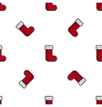 christmas flat icon pattern vector image vector image