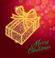 Christmasgift box vector image