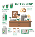 Coffee shop infographic flat design vector image vector image