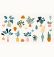 collection stickers and floral design elements vector image vector image