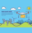 concept for delivery service delivery drone vector image vector image
