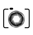 Digital Camera- photography logo vector image vector image