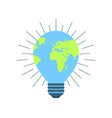 earth day 22 april clean energy light bulb vector image