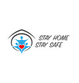 family stay home symbol background vector image vector image
