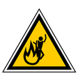 Fire zone sign vector image vector image