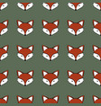 fox cartoon cute animal seamless pattern vector image