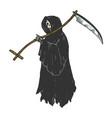 grim reaper engraving vector image vector image