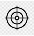 gun target icon vector image