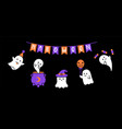 halloween banner rwith ghost cute ghost vector image vector image