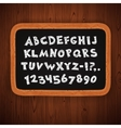 hand drawn chalked letters and numbers vector image vector image